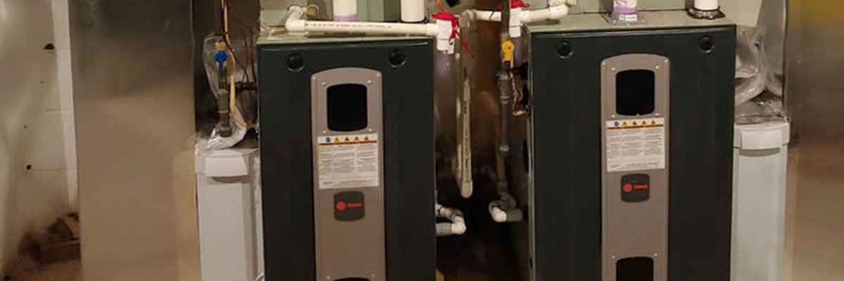Gas furnace installation